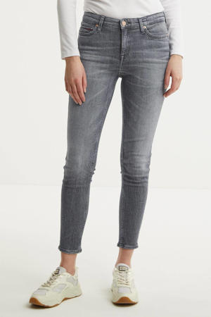 high waist skinny jeans Nora midnight grey str