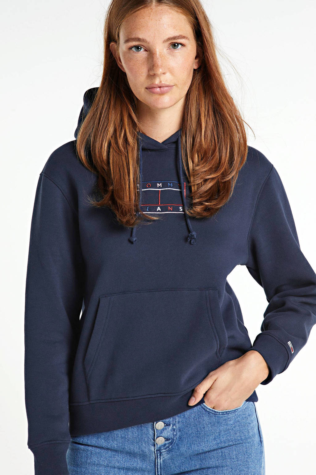 Tommy Hilfiger hoodie met biologisch katoen twilight navy, Twilight Navy