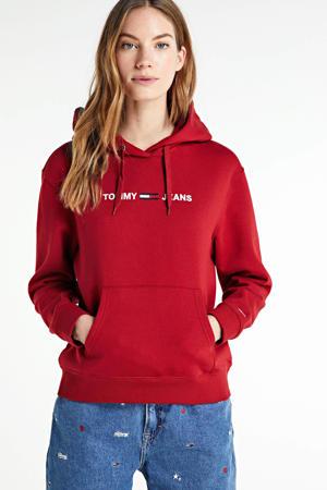 hoodie met biologisch katoen wine red