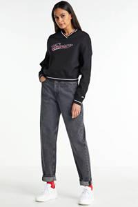 Tommy Hilfiger sweater met contrastbies black, Black