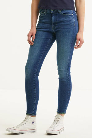 high waist super skinny jeans Sylvia lund dark blue str
