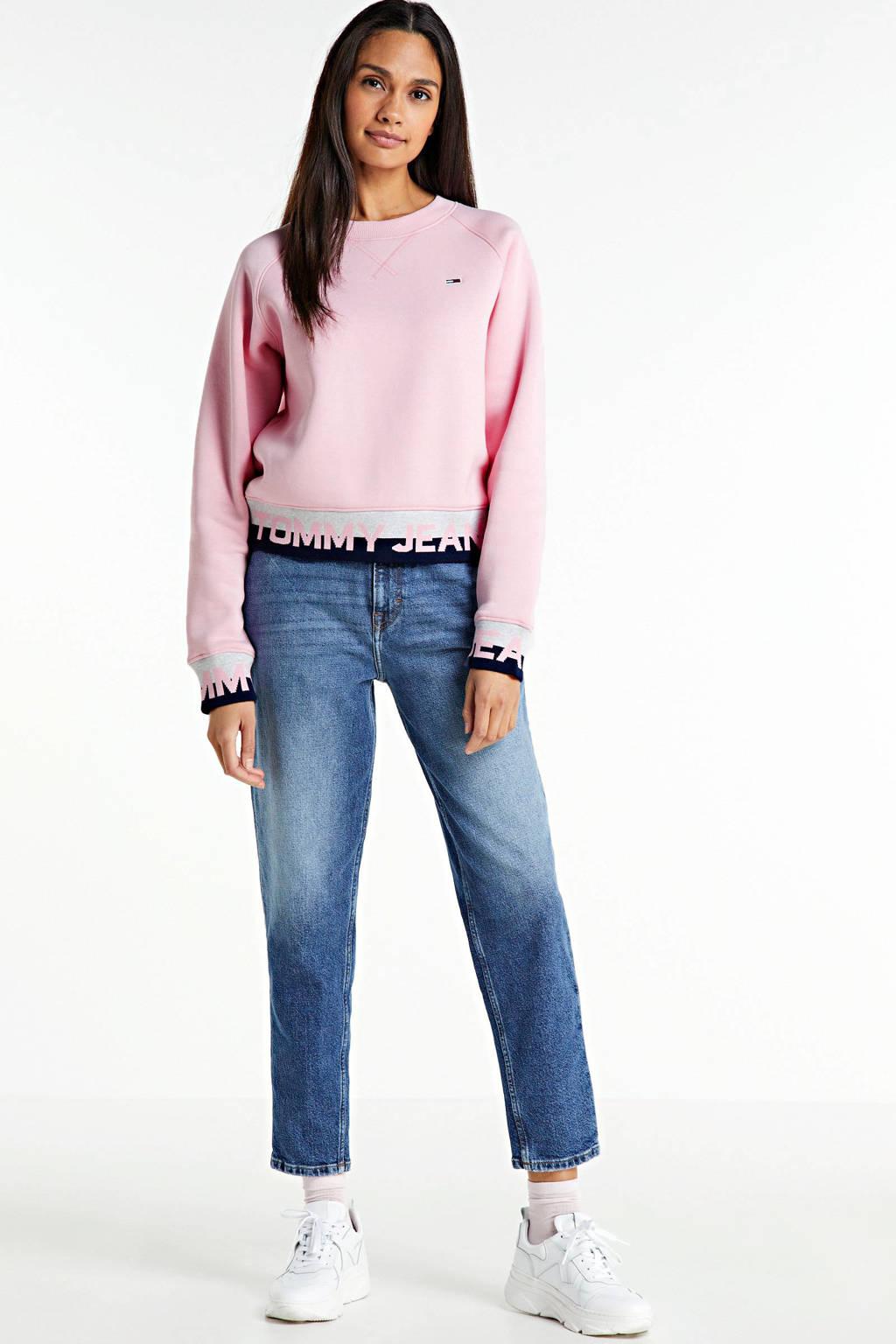 Tommy Hilfiger sweater met biologisch katoen romantic pink, Romantic Pink