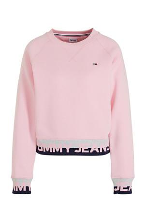 sweater met biologisch katoen romantic pink