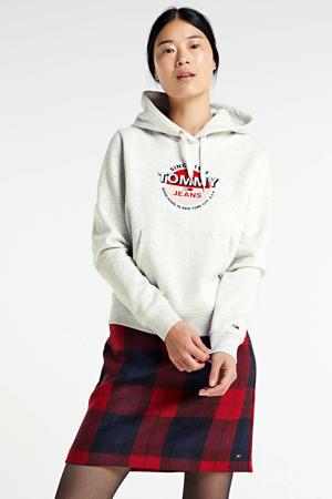 regular fit hoodie met biologisch katoen silver grey htr