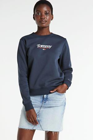 sweater met biologisch katoen twilight navy