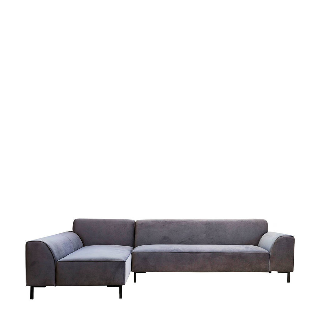 4X6 SOFA hoekbank links X4 velours X4, Grijs