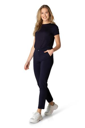 basic T-shirt Yalba donkerblauw