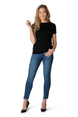 basic T-shirt Yalba zwart