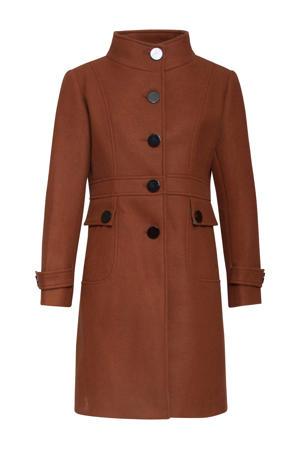 coat bruin/zilver