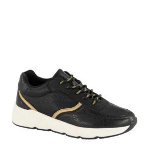 sneakers zwart/goud