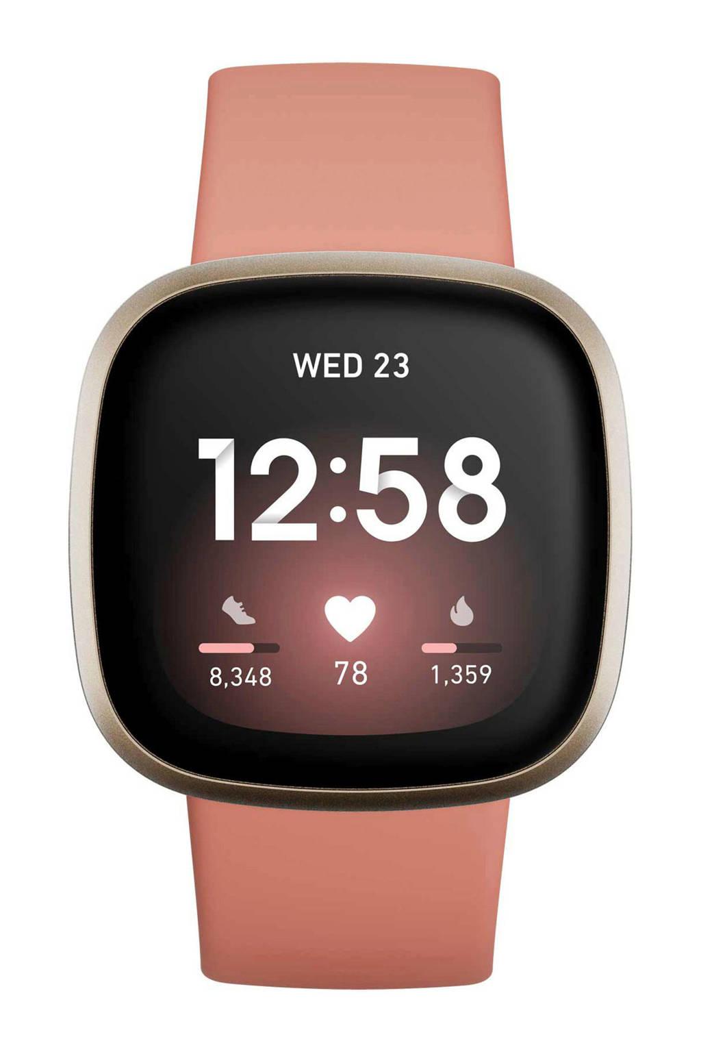 Fitbit  Versa 3 smartwatch (roze/goud)