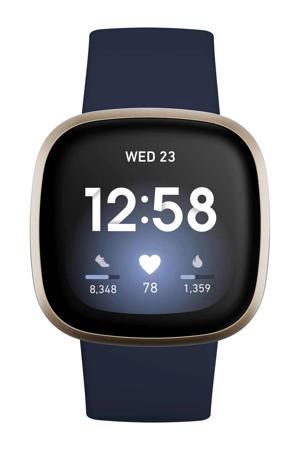 Versa 3 smartwatch (blauw/goud)