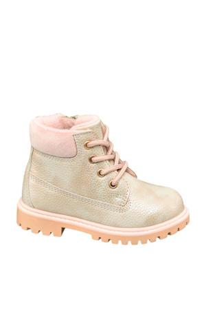 veterboots beige/roze