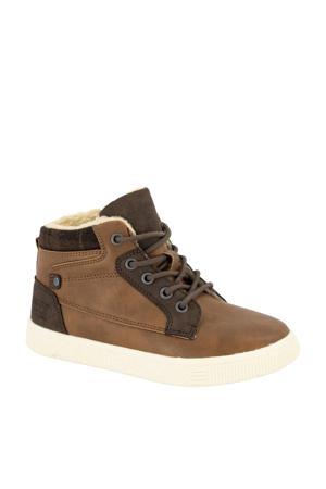 hoge sneakers bruin