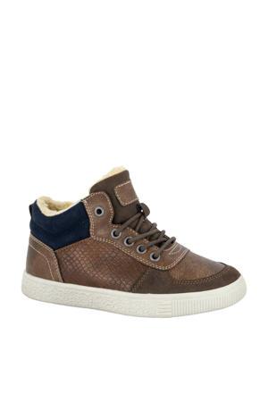 halfhoge sneakers bruin