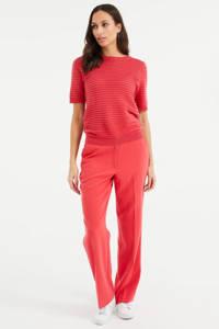 WE Fashion gestreepte top sugar coral, Sugar Coral