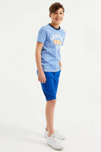 WE Fashion slim fit bermuda kobaltblauw, Kobaltblauw