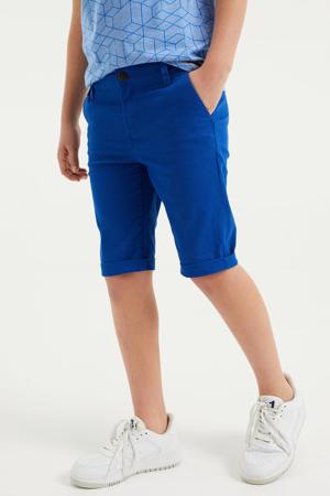 slim fit bermuda kobaltblauw