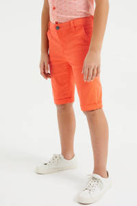 WE Fashion slim fit bermuda oranje, Oranje