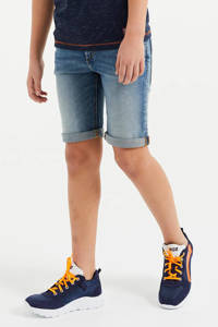 WE Fashion Blue Ridge slim fit jeans bermuda blauw, Blauw