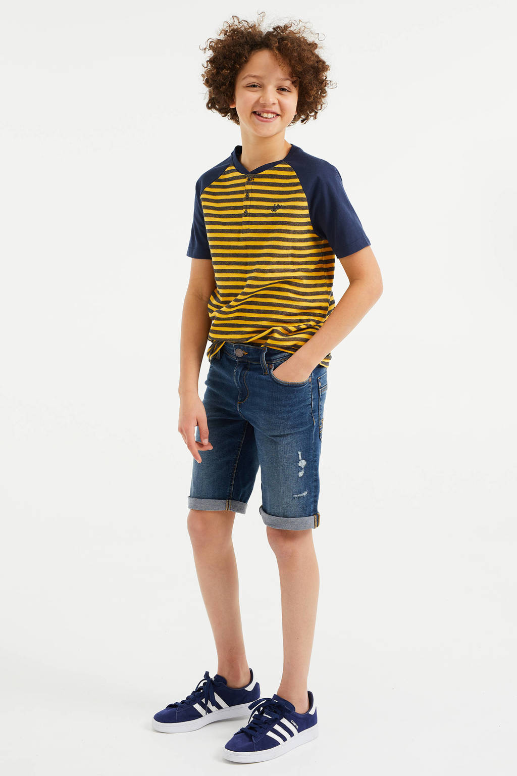 WE Fashion Blue Ridge slim fit jeans bermuda stonewashed, Stonewashed