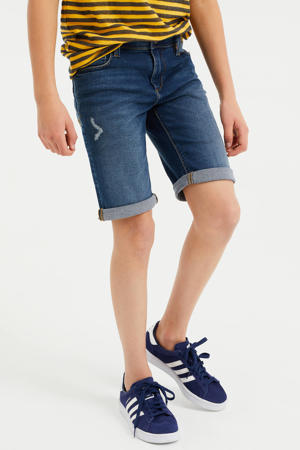 slim fit jeans bermuda stonewashed