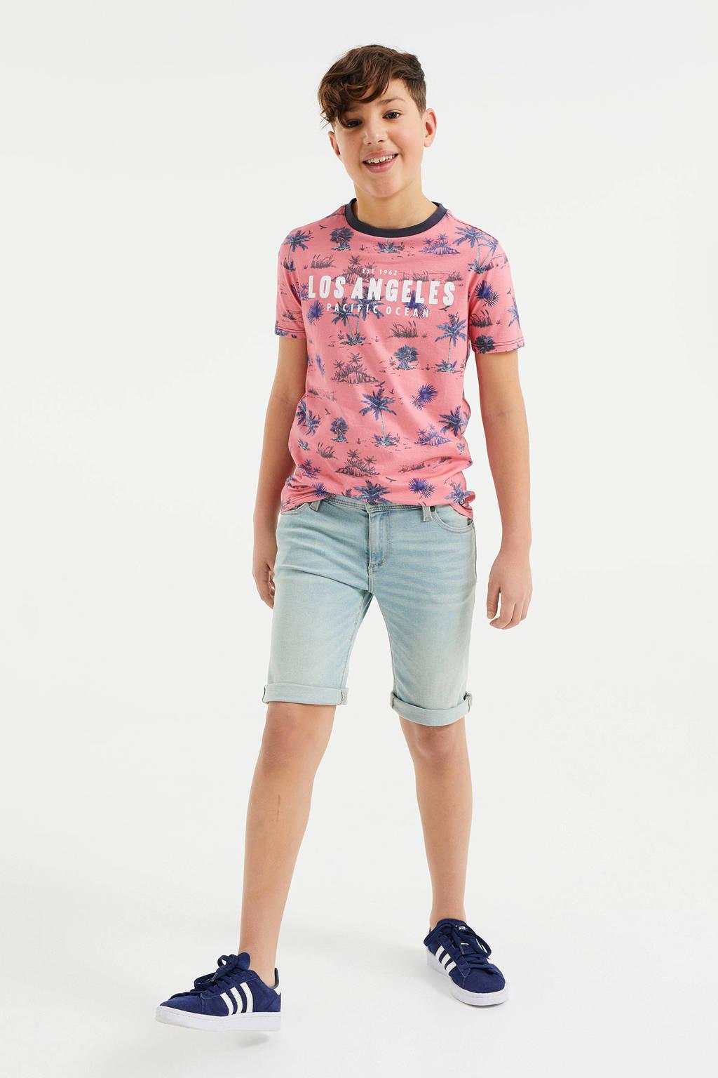 WE Fashion Blue Ridge slim fit jeans bermuda light denim, Light denim