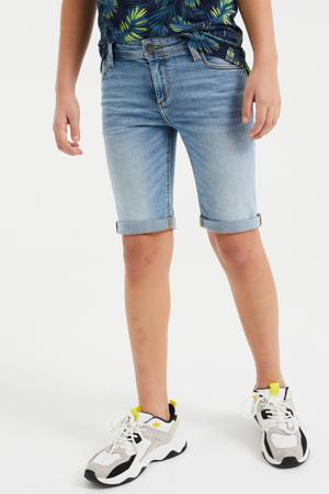 slim fit jeans bermuda light denim