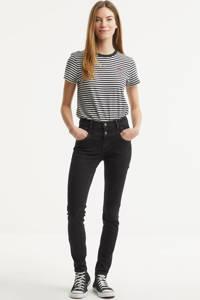 Il Dolce high waist slim fit jeans Ibiza grey, Grey