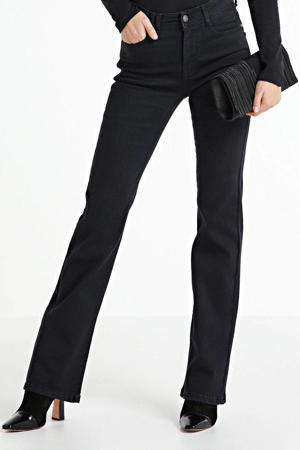 high waist flared jeans Sylvie black