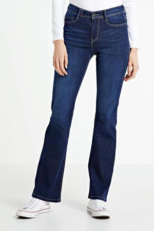 high waist flared jeans Sylvie dark blue