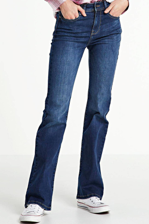 Il Dolce high waist flared jeans Sylvie medium blue, Medium blue