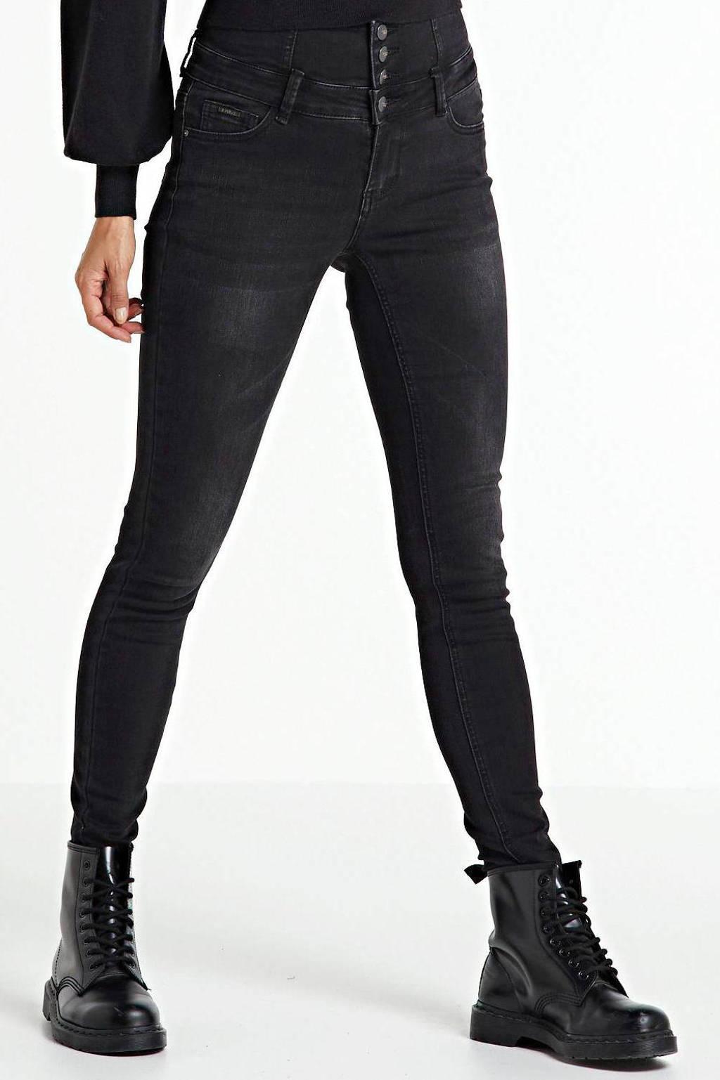 Il Dolce high waist skinny jeans Jakarta dark grey, Dark grey