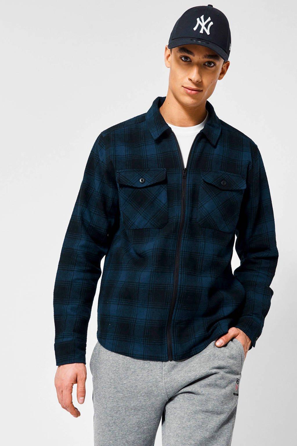 America Today geruit regular fit overhemd Harve donkerblauw, Donkerblauw