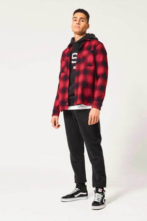 geruit regular fit overhemd Heston rood