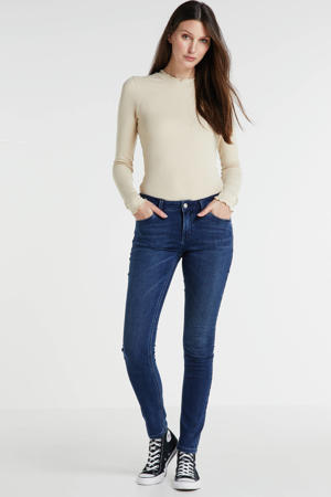 midrise skinny fit jeans blauw