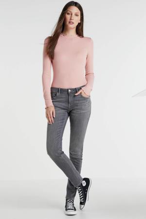 midrise skinny fit jeans grijs