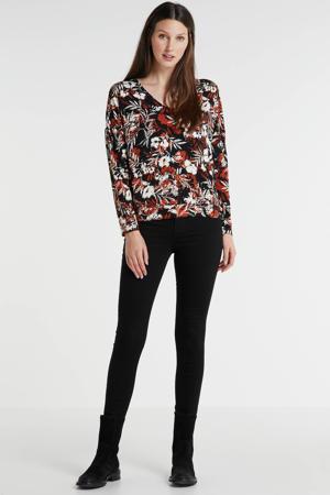 high rise skinny jeans zwart