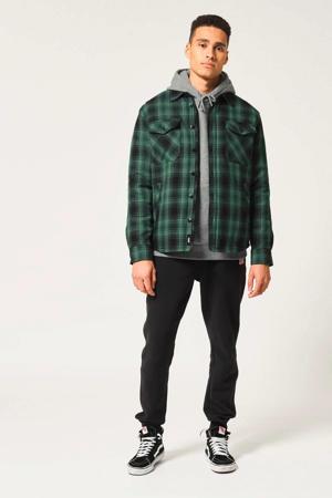 geruit regular fit overhemd groen