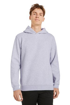 hoodie met textuur lichtgrijs melange