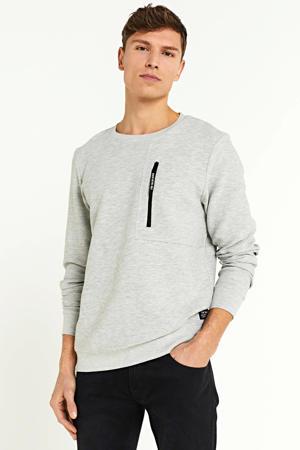 sweater grijsblauw melange