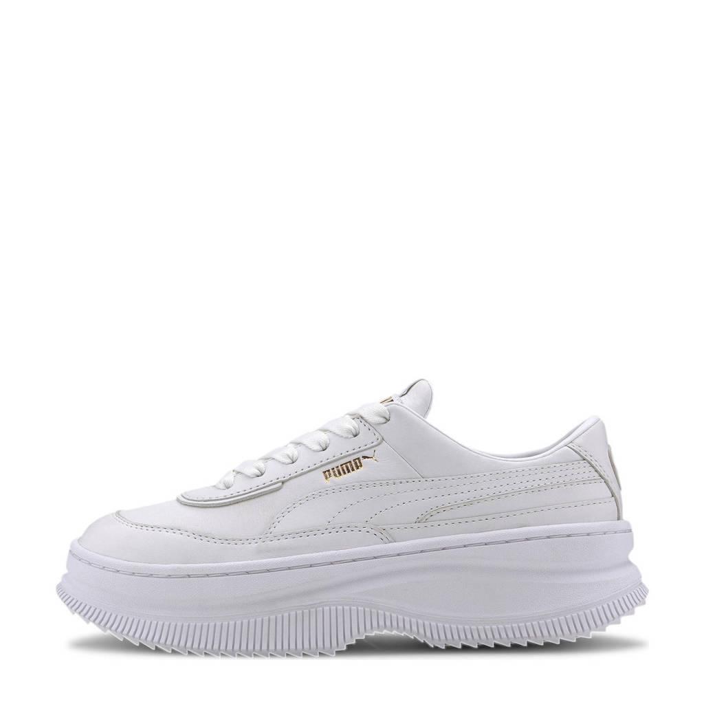 Puma Deva  leren sneakers wit, Wit