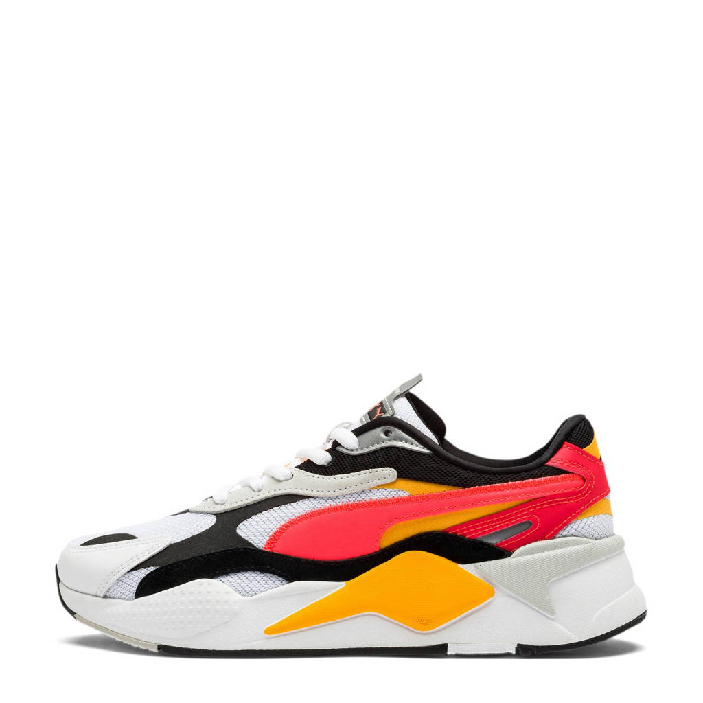 Puma RS-X³ Puzzle sneakers wit/geel/fluor roze/zwart