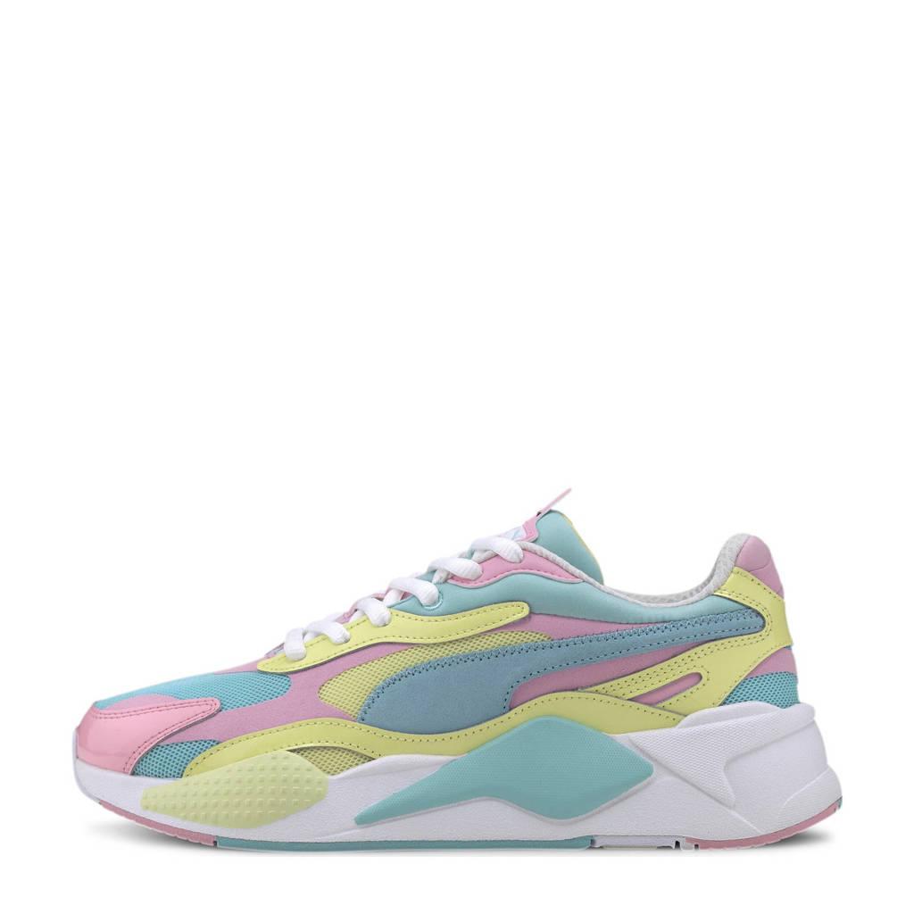Puma RS-X³ Plastic sneakers mintgroen/geel/roze, Mintgroen/geel/roze