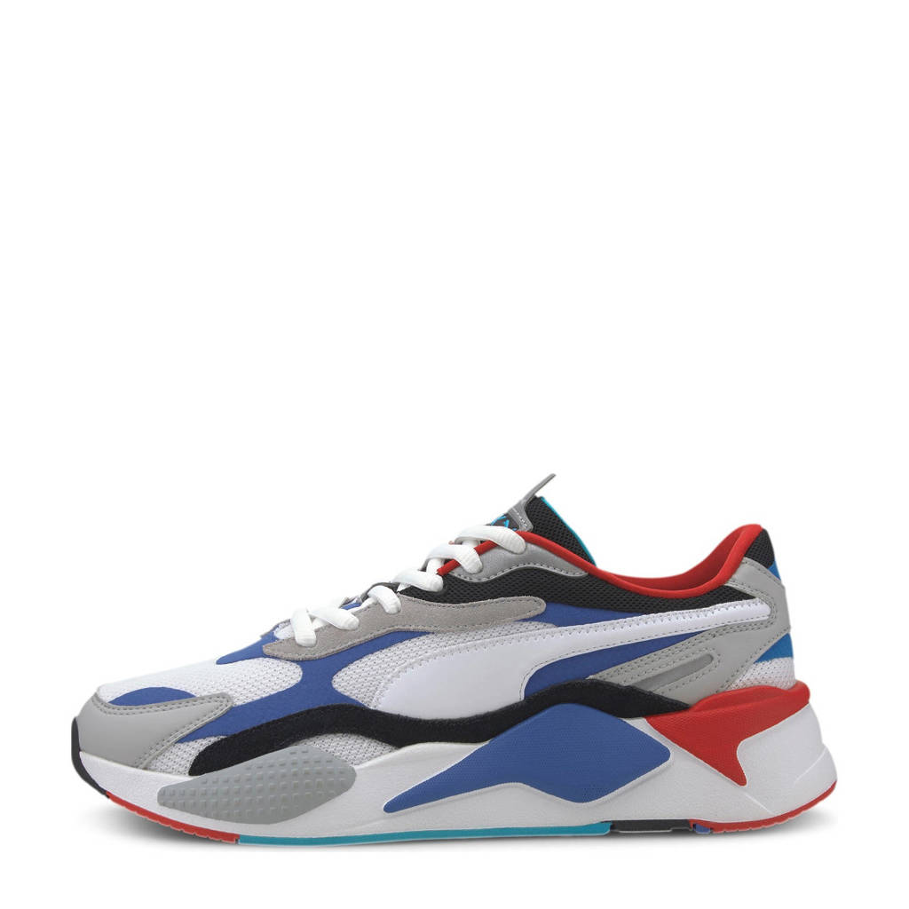 Puma RS-X³ Puzzle sneakers wit/blauw/rood, Wit/blauw/rood
