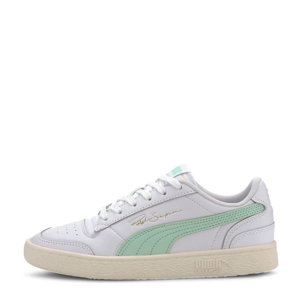 Puma Ralph Sampson Lo Snake leren sneakers wit/mintgroen, Wit/mintgroen