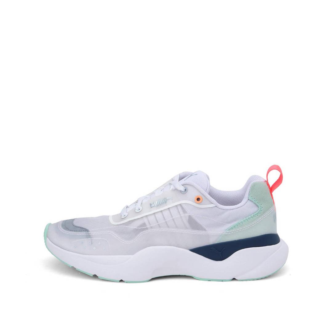Puma Lia Sheer  sneakers wit/grijs/mintgroen, Wit/grijs/mintgroen