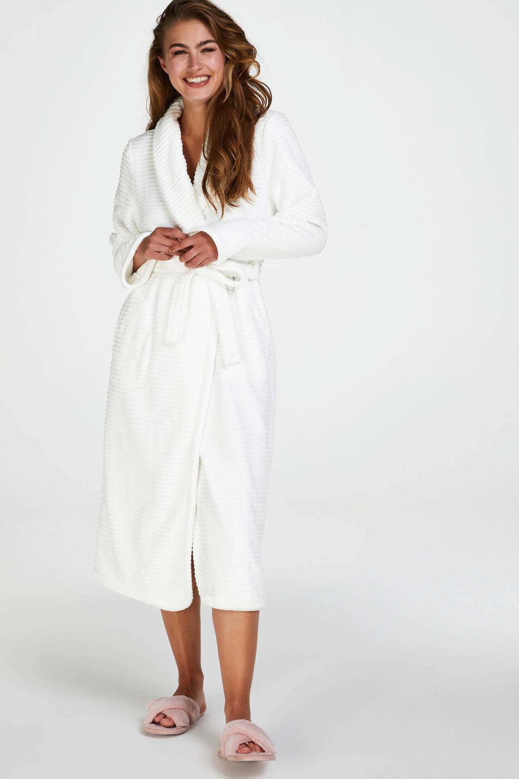 Hunkemöller fleece badjas wit, Wit
