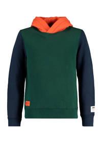 America Today Junior hoodie groen/donkerblauw/oranje, Groen/donkerblauw/oranje