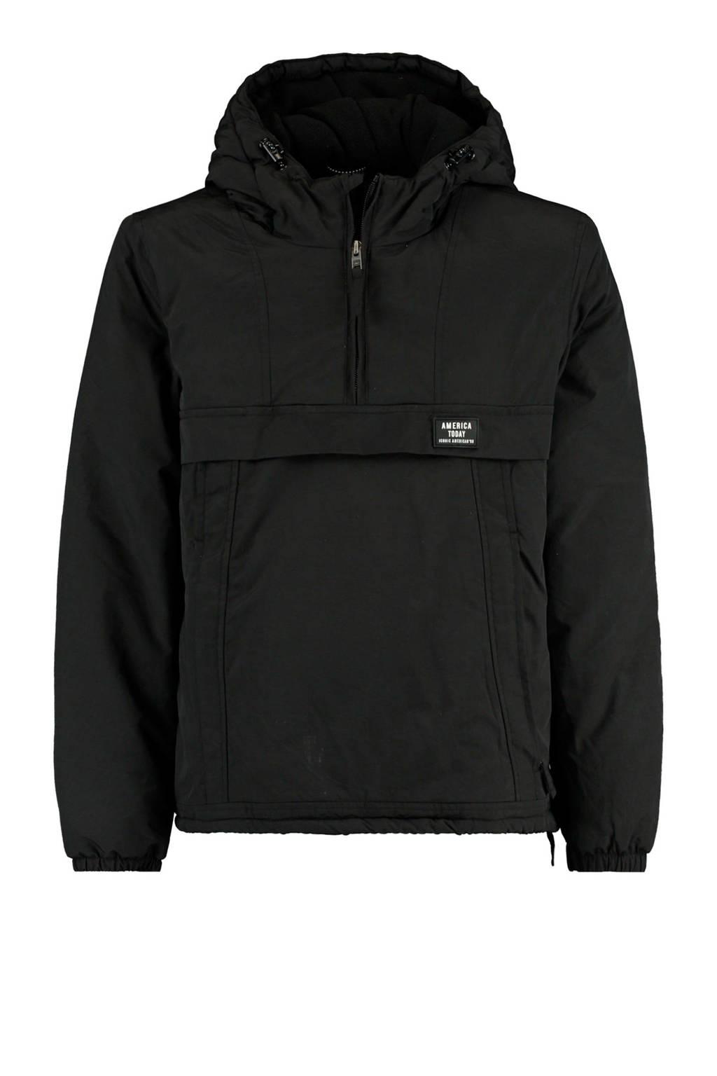 America Today Junior reversible winterjas Jense zwart, Zwart